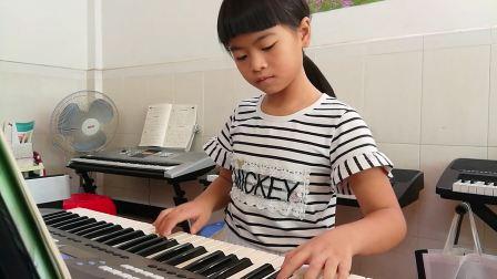 全国版电子琴一级乐曲《卖报歌》(温润垚)20170721