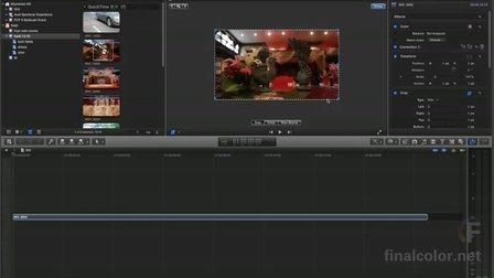 苹果剪辑final cut pro x 10.0.7 专业高级视频教程lesson 005