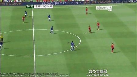 6月9日足球友谊赛 西班牙VS海地上半场 QQ直播网首发