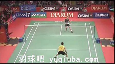 李宗伟VS马克 男单决赛视频 2013印尼羽毛球公开赛-羽球吧
