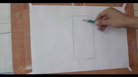 素描入门第7课, 斜面圆柱的画法图片