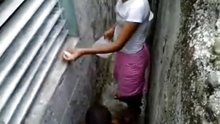 Kevin-Sister is bathing her brother