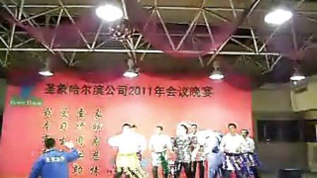 2011年圣象集团哈尔滨分公司年会晚宴集体舞---大家一起来