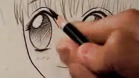 日本动漫漫画技法教程视频-如何画漫画中的眼睛(四种不同的方法)