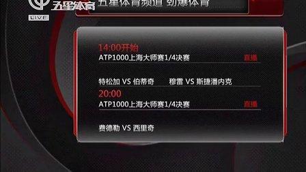 五星体育频道 劲爆体育今天直播上海大师赛1/4决赛[午间体育新闻]