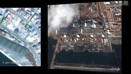日本宫城地震 - Google提供的受灾前后卫星照片对比