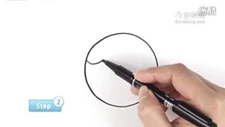 圆形简笔画之妈妈--三森()儿童涂鸦