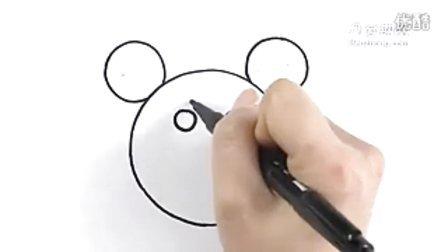 圆形简笔画之猫熊--三森()儿童涂鸦