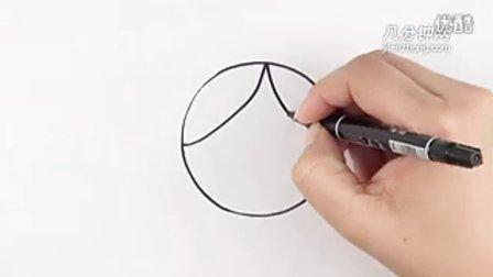 圆形简笔画之奶奶--三森()儿童涂鸦