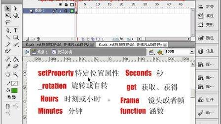 flash cs5视频教程494 制作FLASH时钟3