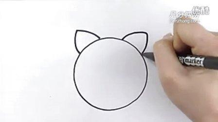 圆形简笔画之小猫--三森()儿童涂鸦