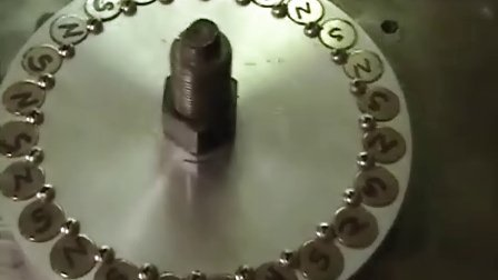 Close up view of magnetic wheel