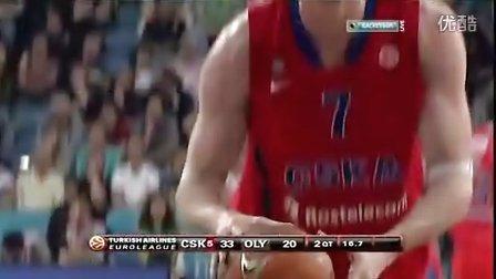 2011-2012赛季欧洲篮球冠军联赛决赛莫斯科中央陆军VS奥林匹亚科斯全场比赛