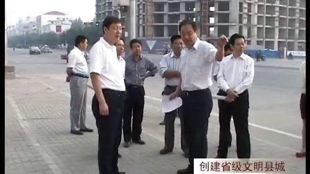 上蔡县胡建辉等县领导检查环境卫生整治情况