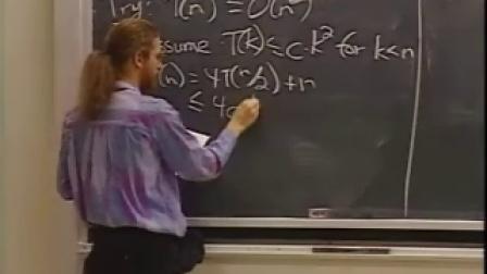 麻省理工大学算法导论2之Recurrences,Substitution, Master Method