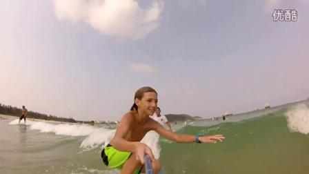 冲浪 | 三亚 女孩冲浪训练营全记录!好多运动性感女孩!