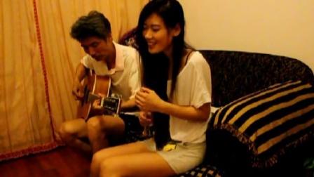 吉他弹唱翻唱《董小姐》 SGLLD跟老爸的合作