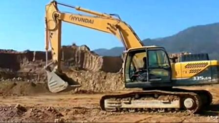 挖掘机大全表演挖土机工作表演视频)(