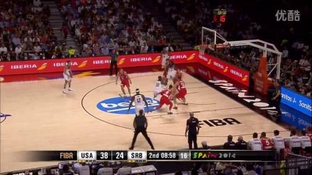 FI*A篮球男篮世界杯决赛直播 美国梦之队夺冠5佳球