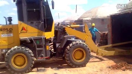 山东临工LG918装载机-巴西煤渣作业现场视频