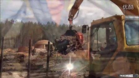 山东临工LG6150E挖掘机-夹木作业视频