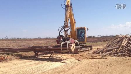 山东临工LG6150E挖掘机-巴西现场作业视频