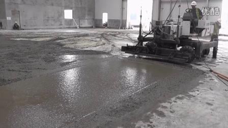朔马珞S-15R混凝土激光整平机江苏张家港工地施工视频