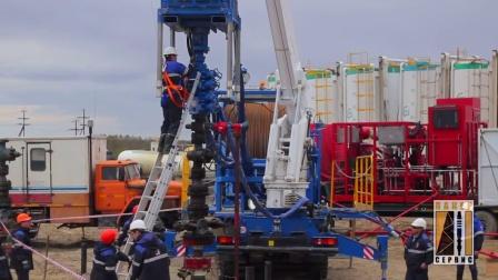 连续油管压裂作业现场