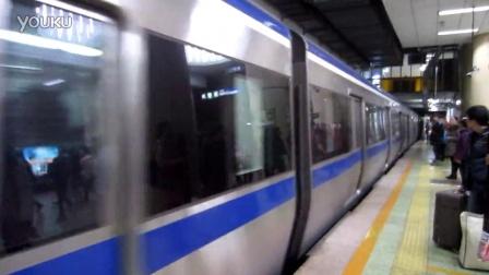 北京地铁2号线建国门站地铁进站