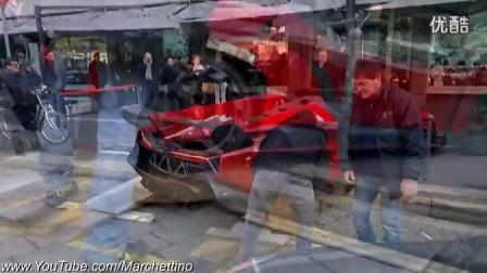 形似怪兽 街拍兰博基尼Veneno Roadster