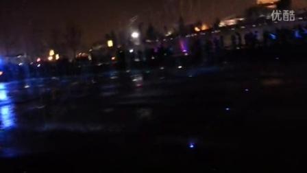 2014圣诞西安大雁塔音乐喷泉现场