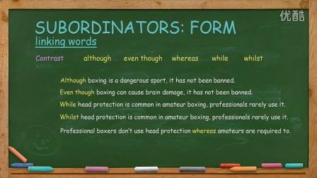 英语写作 English Writing Lesson 8a: Subordinators