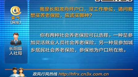 20150127微播大宜昌 民生帮办 没工作单位可以买哪种养老保险