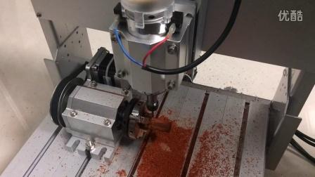 得胜D2数控雕刻机 旋转轴加工测试视频