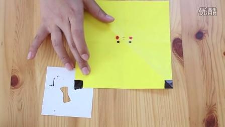 美女教你如何用纸折比卡丘!!
