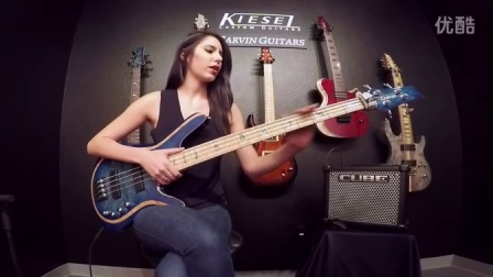 Anna Sentina and V49K Vanquish bass Kiesel Carvin Guitars