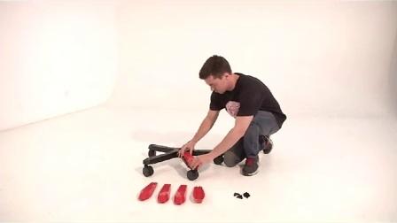 如何安装迪锐克斯DXRacer五星脚脚盖