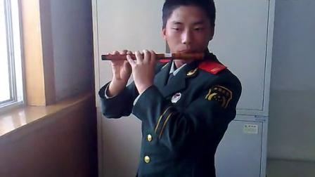 武警战士童年笛子独奏排练花絮
