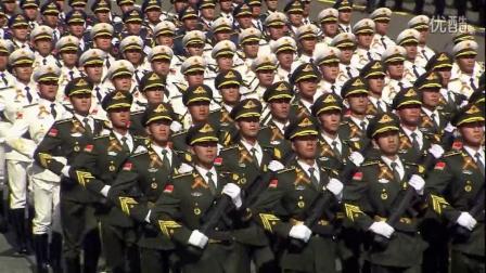 中国人民解放军三军仪仗队走过莫斯科红场的25秒.1080P.SNG