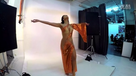 Asi Haskal in the studio Belly Dance Costumes