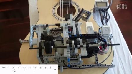 牛人用乐高做了一个会弹吉他的机器
