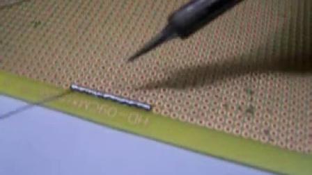 锡接过线及贴片元器件的焊接方法