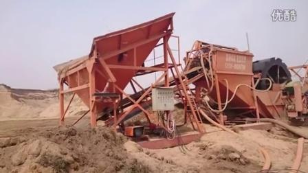 单轮斗式洗砂机工作现场视频