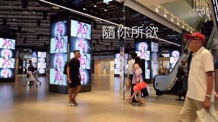 威盛多屏墙 三创生活园区12根立方形多媒体柱