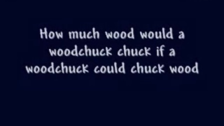 Woodchuck (How Much Wood would a Woodchuck Chuck) - A tongue twister song. By Br