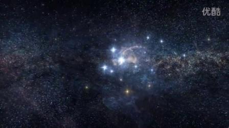 模板:4电影分辨率银河星系星际穿梭科幻太空粒子星云大片宣传模版