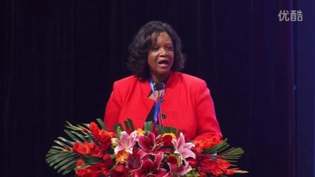 第二届和苑和平节UNESCO驻华代表处代表施瑞思宣读博科娃女士的贺信