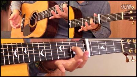【玄武指弹吉他教学】指弹教学 岸部真明 雨落窗边 第一部分