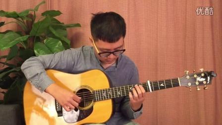 【玄武指弹吉他教学】岸部真明 雨落窗边 教学3