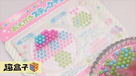 巧克力珠珠画 棒棒糖 食玩 拆箱 试玩